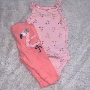 Carter's flamingo set